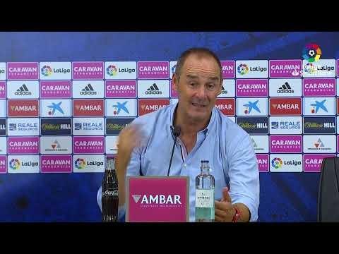 Rueda de prensa de  Víctor Fernández tras el Real Zaragoza vs CD Tenerife (2-0)