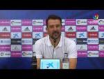 Rueda de prensa de  Aritz López Garai tras el Real Zaragoza vs CD Tenerife (2-0)