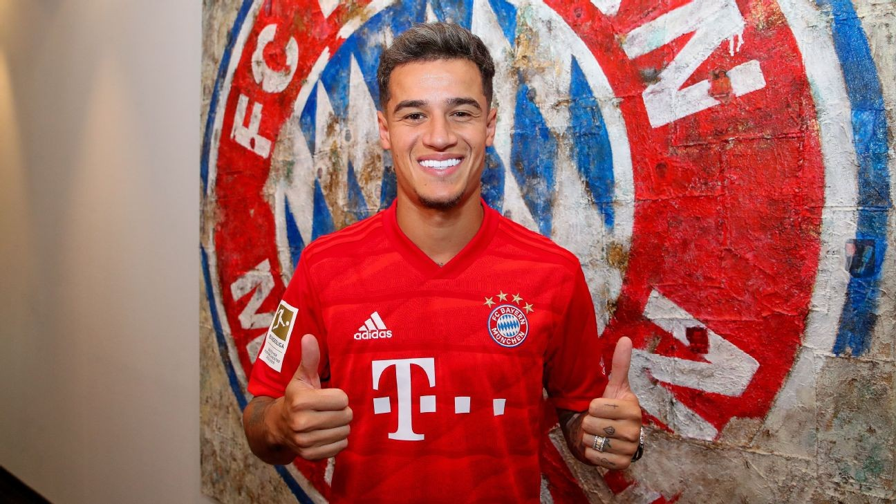 Bayern seal ¬8.5m Coutinho loan from Barcelona