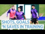 Shots, Goals 'n Saves in Training | Training | Man City