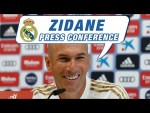 Zidane's pre-Real Valladolid press conference. #RMCity