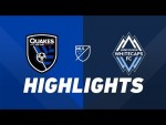 San Jose Earthquakes vs. Vancouver Whitecaps FC | HIGHLIGHTS - August 24, 2019