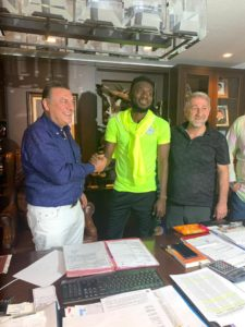 PHOTOS: Joseph Attamah-Lawerh all smiles after joining Rizespor on loan
