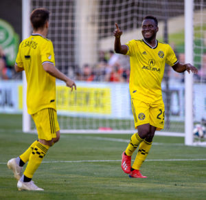 VIDEO: Ghanaian striker David Accam scores for Columbus Crew in draw against Toronto FC