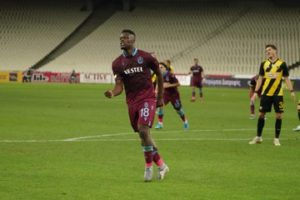 Celeb Ekuban scores hat-trick to power Trabzonspor to first leg win over AEK Athens in Europa League final qualifying round