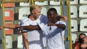 Ghana striker Emmanuel Gyasi happy to score his first goal of the season for Spezia