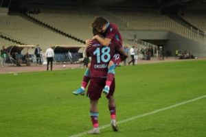 VIDEO: Watch Celeb Ekuban's Hat-Trick For Transonspor against AEK Athens in Europa League yesterday