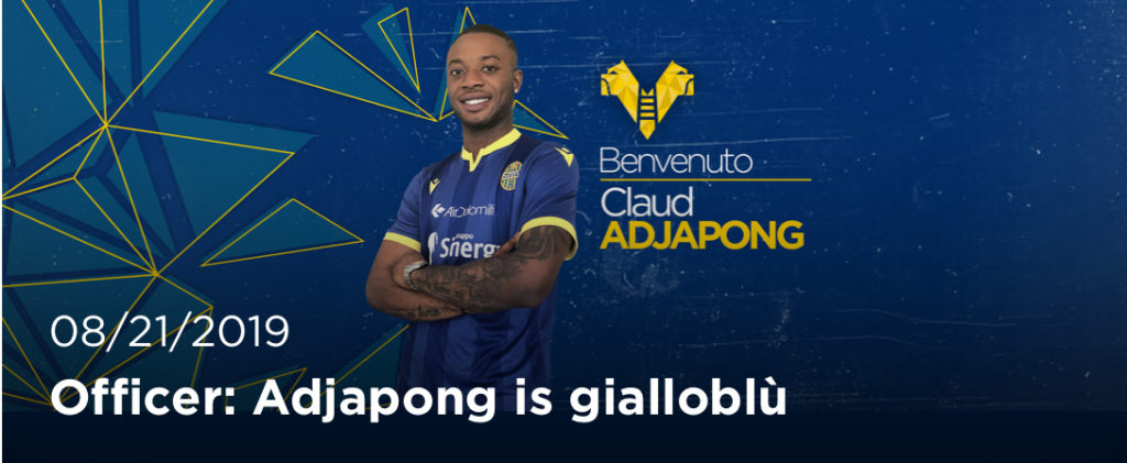 OFFICIAL: Claud Adjapong joins Hellas Verona on loan for one year