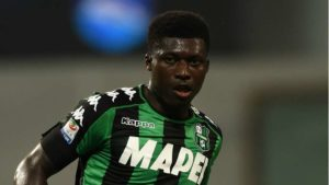 Ghanaian midfielder Alfred Duncan ruled out of Sassuolo's Coppa Italia clash against Spezia