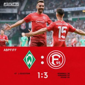 Kasim, Ofori, Tekpetey watch from the bench as Düsseldorf beat Bremen 3-1 in Bundesliga opener