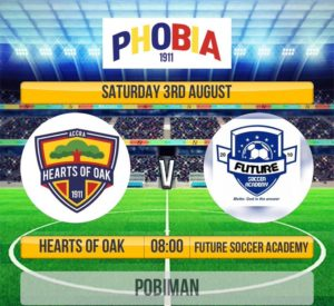 Hearts to engage Future Soccer Academy in a friendly on Saturday