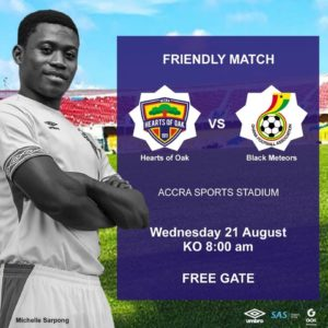 Ghana U-23 side set to play Hearts of Oak in a friendly