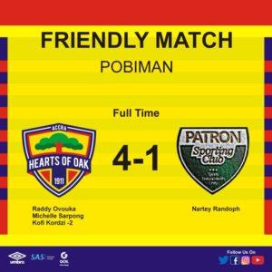 Friendly report: Hearts of Oak brush aside Patron SC 4-1