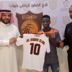 Sarfo Gyamfi sign a season-long deal with Al Suqoor fc in Saudi Arabia