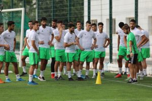 Algeria U23 national team camps in Sidi Moussa ahead of their tie with Meteors