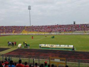 A minute silence observed for departed Junior Agogo prior to Kotoko-Kano Pillars kickoff