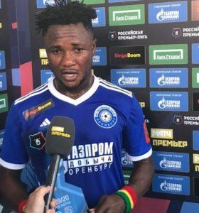 Russian Premier League: Joel Fameyeh wins man of the match award after bagging brace against Tambov FK