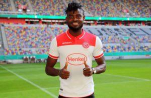 Ghanaian defender Kasim Nuhu opens goal scoring account for Fortuna Düsseldorf in friendly win over TuRU