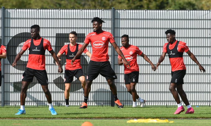 Kassim Nuhu express delight after completing first training with Fortuna Düsseldorf [VIDEO]