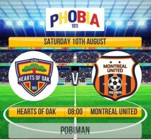 Hearts to engage Montreal United and Royal FC in friendly matches tomorrow