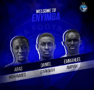 Enyimba FC tighten their squad with Ghanaian trio.