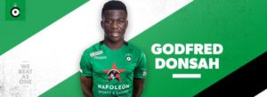 Ghanaian midfielder Godfred Donsah marks Cerlce Brugge debut against Waasland-Beveren