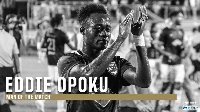 VIDEO: Ghanaian forward Eddie Opoku adjudged Man of the Match following his goal for Birmingham Legion in USL