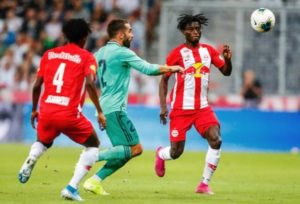 VIDEO: Ghanaian youngster Gideon Mensah star for Red Bull Salzburg against Real Madrid
