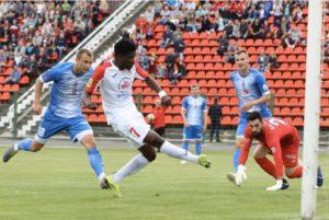 Ghanaian forward Francis Narh scores as Slavia Mozyr defeat Dnyapro