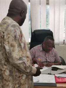 Osei Kweku Palmer picks GFA presidential elections nomination form