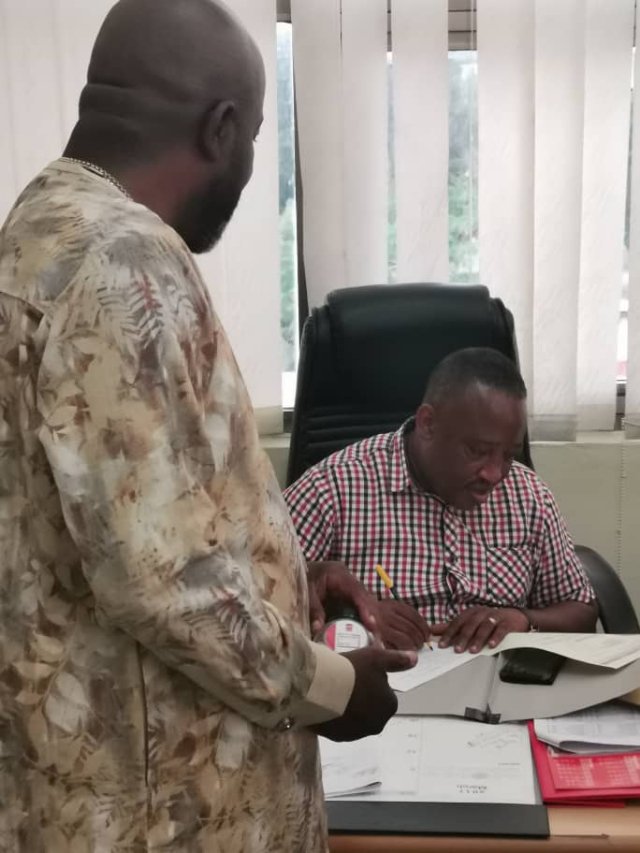 Osei Kweku Palmer picks GFA presidential elections nomination form