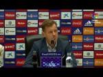 Rueda de prensa de  Manuel Mosquera tras el Real Oviedo vs Extremadura UD (1-1)