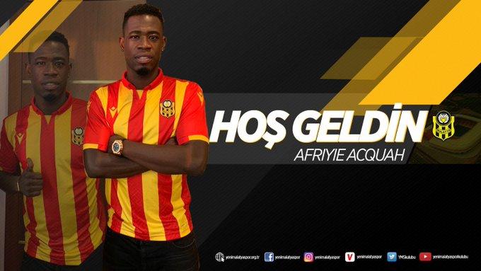 Ghana midfielder Afriyie Acquah reiterates European ambition for Turkish side Yeni Malatyaspor