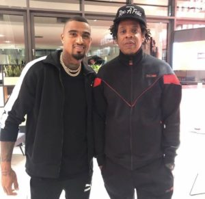 Kevin Prince Boateng meets hip-pop star Jay-Z