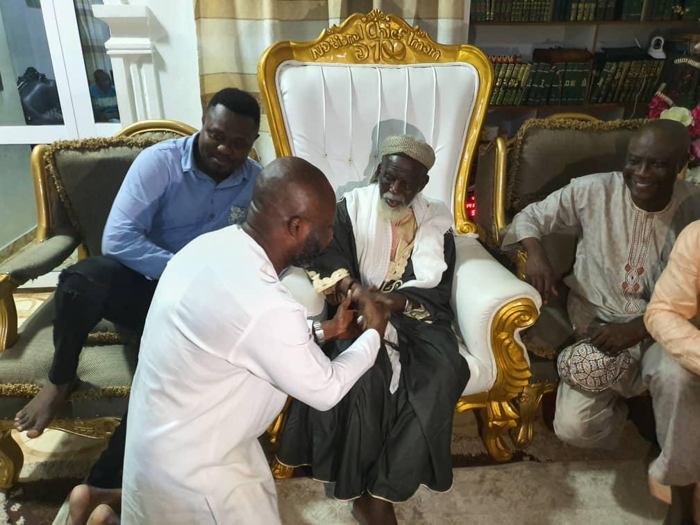 George Afriyie pays a courtesy call on Chief Imam