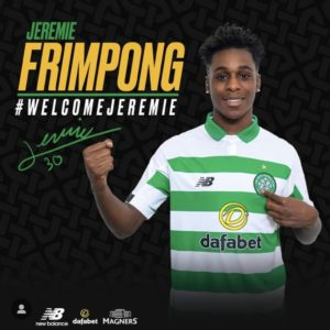 Jeremie Frimpong Vows to make Celtic proud
