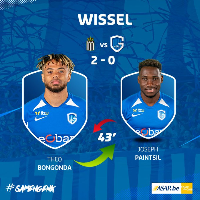 Big blow as Genk loses Joseph Paintsil to injury