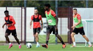 Huge boost for Fortuna Düsseldorf as Kasim Nuhu returns to training ahead of Wolfsburg showdown