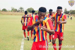Hearts midfielder Manaf Umar heaps praise coach Kim Grant for developing him