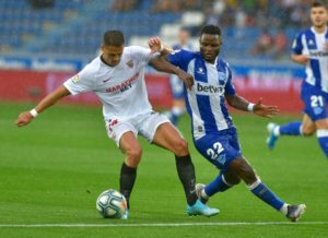 Mubarak Wakaso admits Alaves played poorly in the first half of their weekend fixture against Sevilla