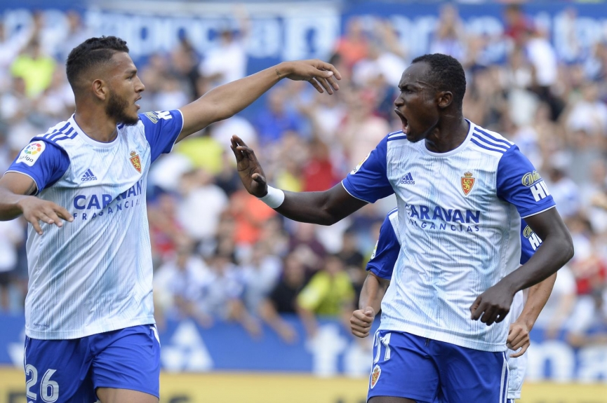 Raphael Dwamena on target for Real Zaragoza in 3-1 win over Extremadura