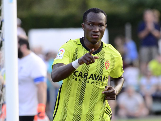 Ghana striker Raphael Dwamena nets first league goal as Zaragoza beat AD Alcorcon 3-0