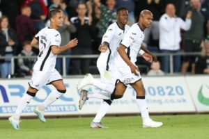 Ghana skipper Andre Ayew stars as Swansea City beat Cardiff City