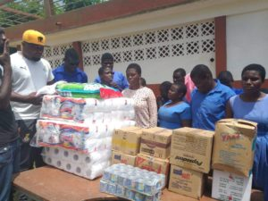 Black Stars B donates to Akropong School for the Blind