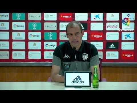 Rueda de prensa de  Eloy Jiménez tras el UD Almería vs CD Lugo (0-0)