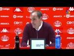 Rueda de prensa de  Eloy Jiménez tras el CD Lugo vs SD Huesca (3-2)