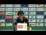 Rueda de prensa de  Pacheta tras el Elche CF vs Real Sporting (0-1)