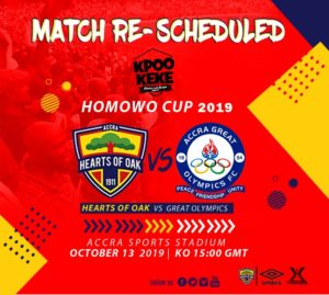 2019 Homowo Cup: Hearts and Olympics clash re-scheduled again