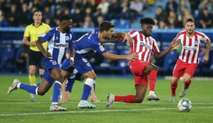 Thomas Partey, Mubarak Wakaso play for Atletico Madrid and Alaves respectively as they draw 1-1