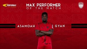 Former Sunderland striker Asamoah Gyan adjudged Max Performer of the Match as NorthEast United beat Odisha